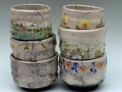 some raku fired bowls