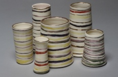 assorted vases, porcelain with lusters