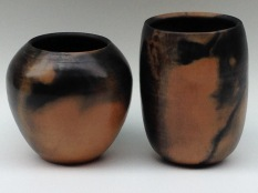 burnished dung fired