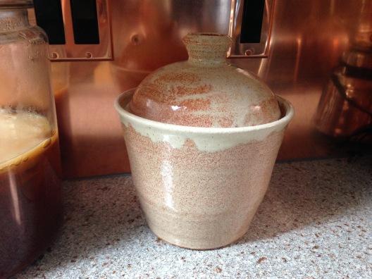 sauerkraut fermenting jar