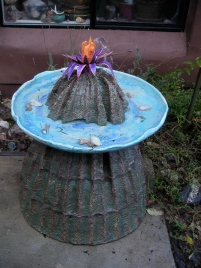 "cactus fountain for Baja 43""x36""2005"
